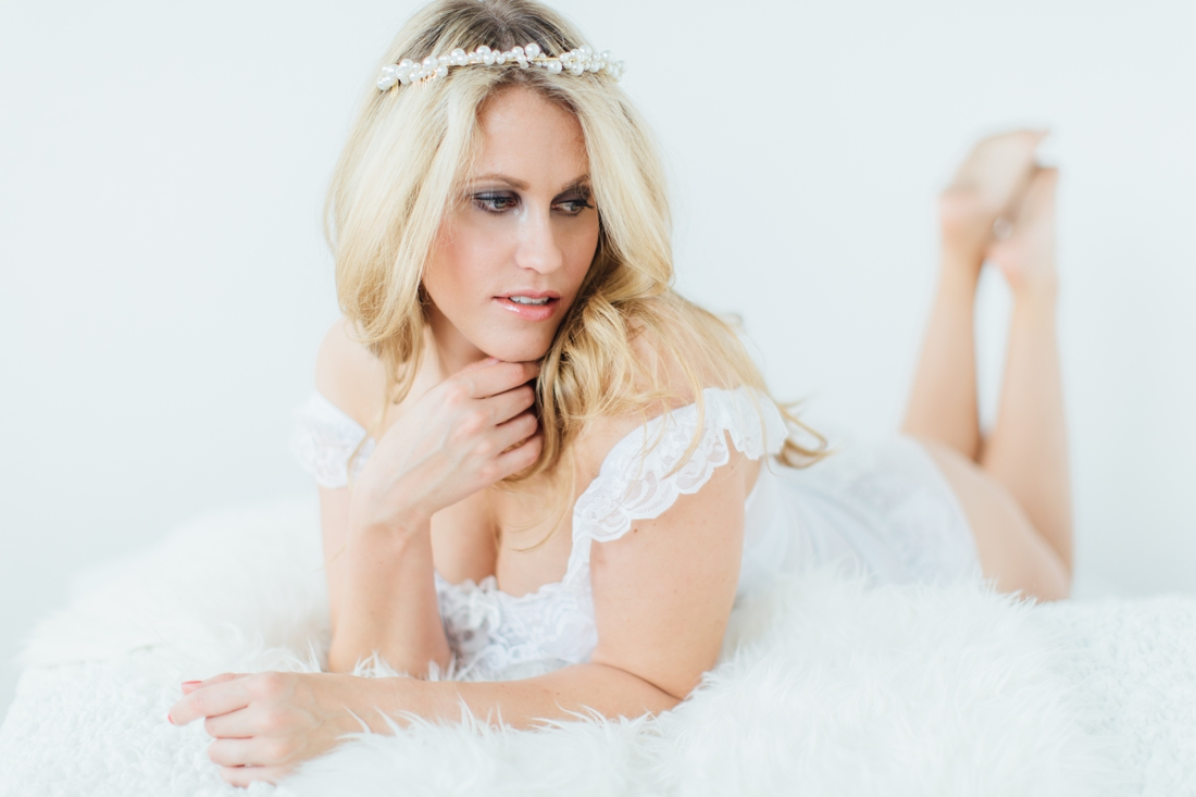 elegant bridal boudoir at White Cat Studio Cork
