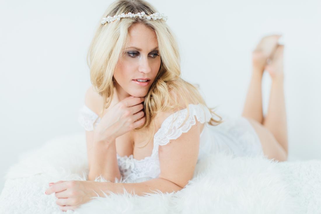 elegant bridal boudoir at White Cat Studio Cork