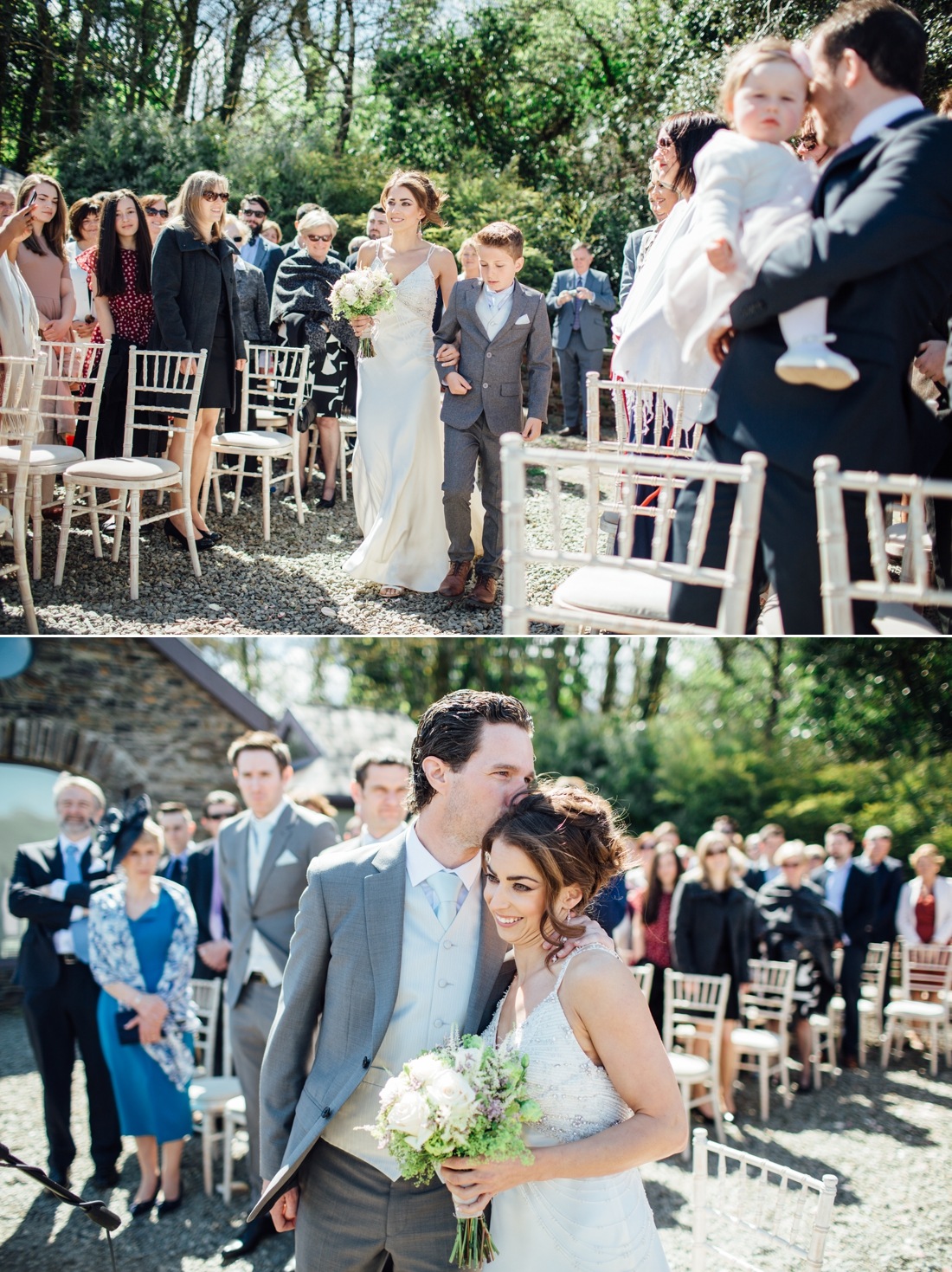 destination wedding photography documentary and relaxed,Stylish and unique outside ceremony